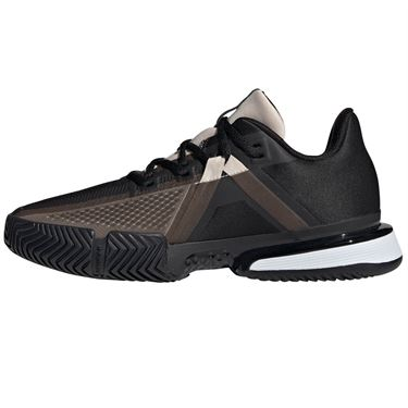 adidas Sole Match Bounce Womens Tennis Shoe - Core Black/Linen