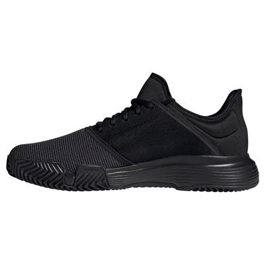 adidas Game Court Mens Tennis Shoe - Black