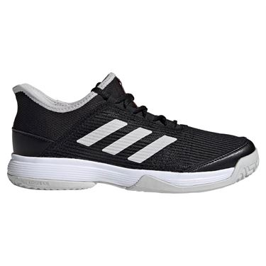 adidas adizero Club Junior Tennis Shoe - Black/White/Grey One