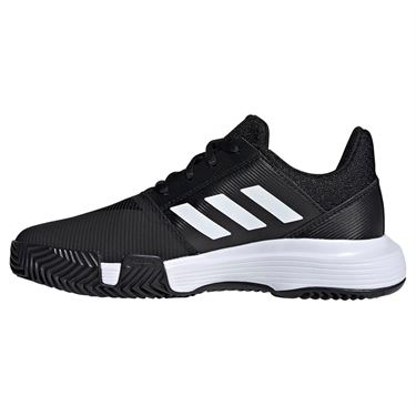 adidas Court Jam XJ Junior Tennis Shoe - Black/White