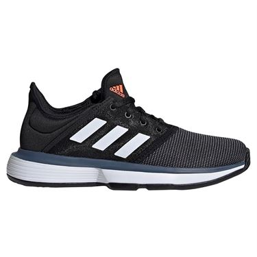 adidas Sole Court Junior Tennis Shoe - Black/White/Tech Ink