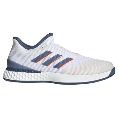 adidas adizero Ubersonic 3 Mens Tennis Shoe - White/Tech Ink/Grey