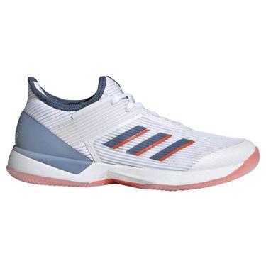 adidas adizero Ubersonic 3 Womens Tennis Shoe - White/Tech Ink/True Orange