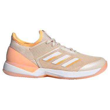 adidas Adizero Ubersonic 3 Womens Tennis Shoe - Linen/White/Flash Orange