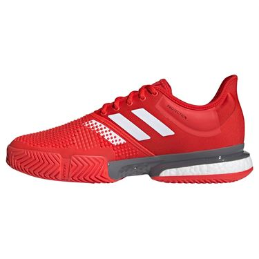 adidas Sole Court Boost Mens Tennis Shoe - Active Red/White/Grey