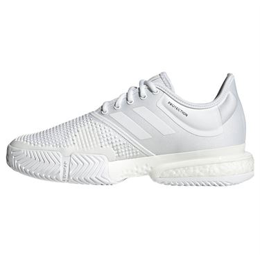 adidas Sole Court Boost Parley Womens Tennis Shoe - White/Black