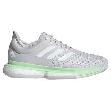 adidas Sole Court Boost Womens Tennis Shoe - Glow Green/White/Grey One