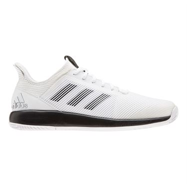 adidas Defiant Bounce 2 Mens Tennis Shoe White/Core Black EF2436