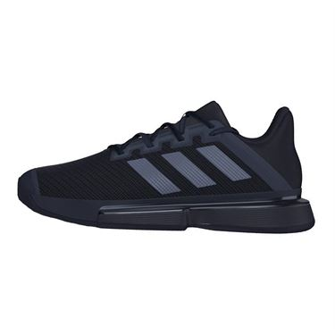 adidas Sole Match Bounce Mens Tennis Shoe Core Black/Night Metallic EF2439