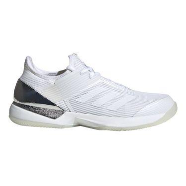 adidas Adizero Ubersonic 3 Womens Tennis Shoe White/Matte Silver EF2463