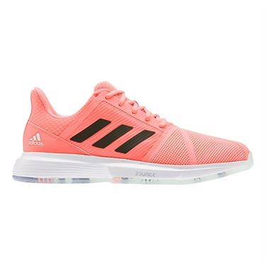 adidas Court Jam Bounce Mens Tennis Shoe Dash Green/Signal Coral/Tech Purple EF2478