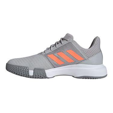adidas Court Jam Bounce Mens Tennis Shoe Grey Two/Signal Coral/Grey Three EF2479