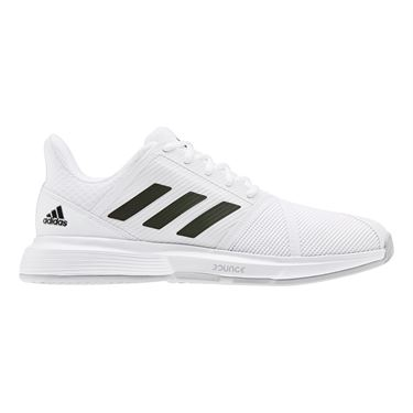adidas Court Jam Bounce Mens Tennis Shoe White/Core Black/Matte Silver EF2480