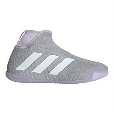 adidas Stycon Womens Tennis Shoe Grey Two/White/Purple Tint EF2696