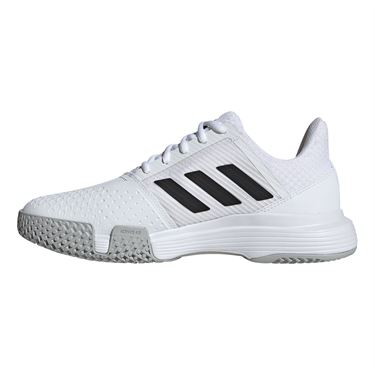 adidas Court Jam Bounce Womens Tennis Shoe White/Core Black/Matte Silver EF2765
