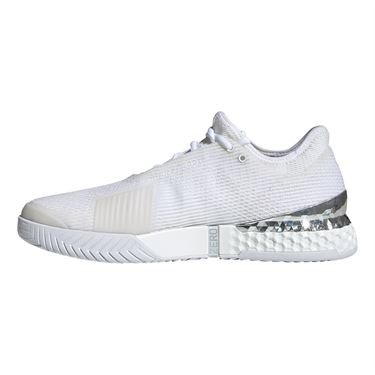 Adidas Adizero Ubersonic 3 Mens Tennis Shoe White/Silver Metallic EF2767