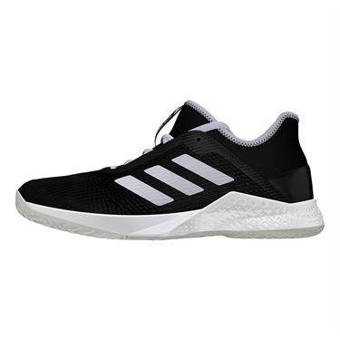 adidas Adizero Club Womens Tennis Shoe Core Black/Purple Tint/White EF2775