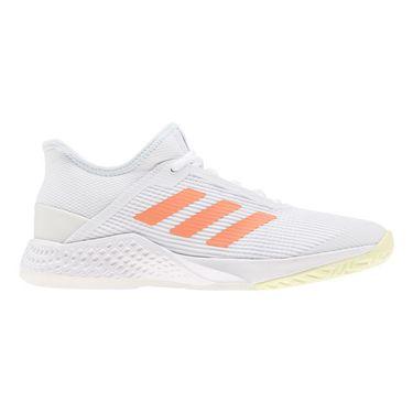 adidas Adizero Club Womens Tennis Shoe White/Amber Tint/Sky Tint EF2776