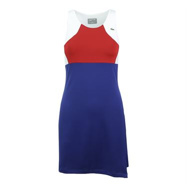 Lacoste Technical Jersey Tank Dress - Ocean