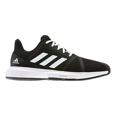 adidas Court Jam Bounce Mens Tennis Shoe Core Black/White/Matte Silver EG1136