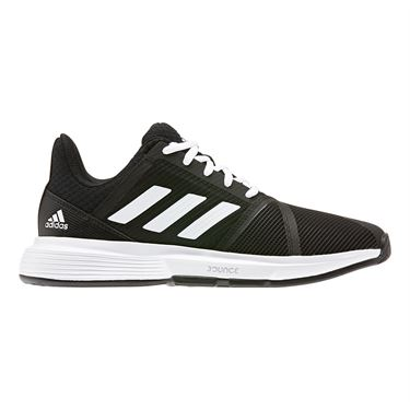 adidas Court Jam Bounce Womens Tennis Shoe Core Black/White/Matte Silver EG1139
