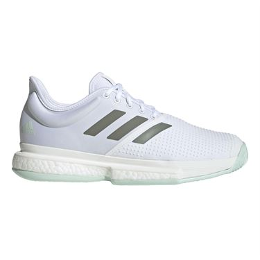 adidas Sole Court Mens Tennis Shoe White/Legacy Green/Green Tint EG1482
