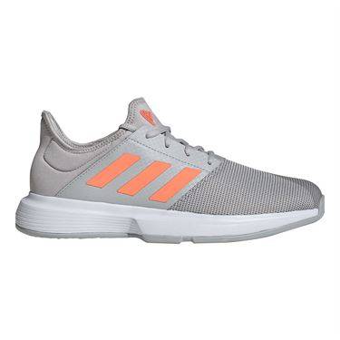 adidas Game Court Mens Tennis Shoe Grey Two/Signal Coral/Grey Three EG2007