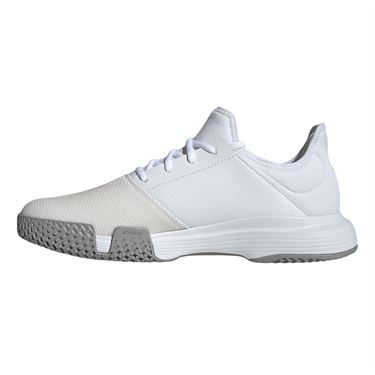 adidas Game Court Mens Tennis Shoe White/Dove Grey EG2008