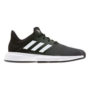 adidas Game Court Mens Tennis Shoe Core Black/White/Grey Six EG2009