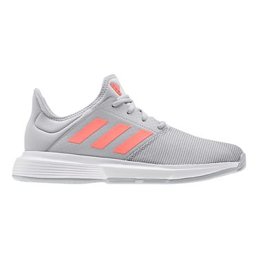 adidas Game Court Womens Tennis Shoe Grey Two/Signal Coral/Grey Three EG2015