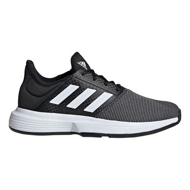 adidas Game Court Womens Tennis Shoe Black/White/Grey Six EG2017