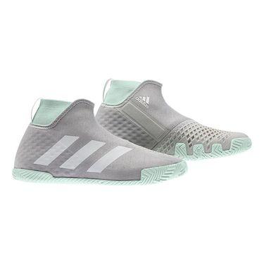 adidas Stycon Mens Tennis Shoe Grey Two/White/Dash Green EG2211