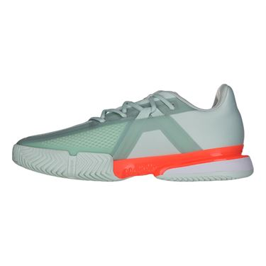 adidas Sole Match Bounce Mens Tennis Shoe Dash Green/Core Black/Signal Coral EG2216