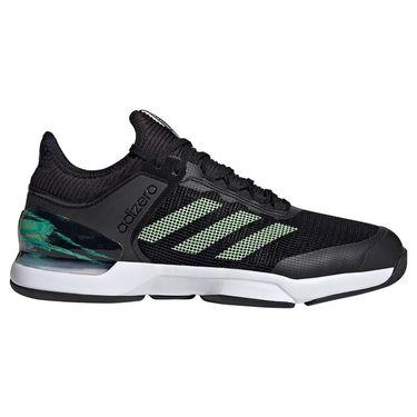 adidas Adizero Ubersonic 2 Tennis Shoe - Core Black/Glow Green/Flash Orange