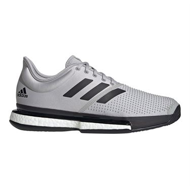 adidas Sole Court Primeblue Mens Tennis Shoe Grey Two/Core Black/White Tint EG7693