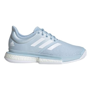 adidas Sole Court Primeblue Womens Tennis Shoe Easy Blue/White EG7694