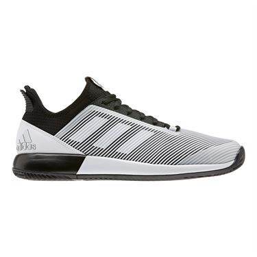adidas Defiant Bounce 2 Mens Tennis Shoe Core Black/White EH0948