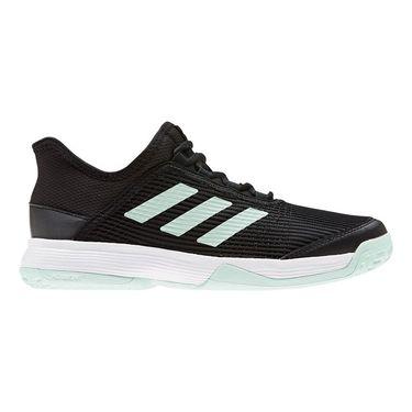 adidas Adizero Club Junior Tennis Shoe Core Black/Dash Green/White EH1106