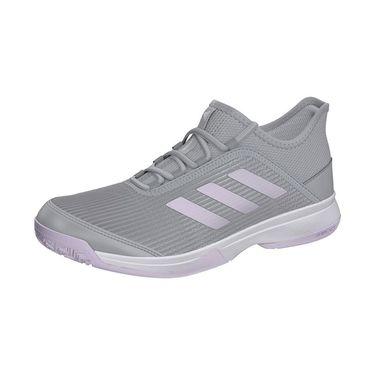 adidas Adizero Club Junior Tennis Shoe Grey Two/Purple Tint/White EH1107