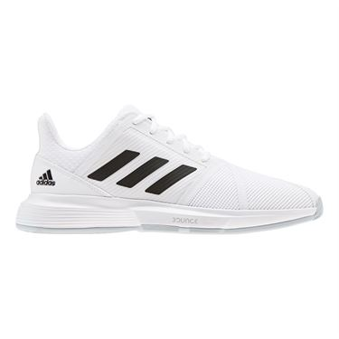 adidas Court Jam Bounce Wide Mens Tennis Shoe White/Core Black/Matte Silver EH2879
