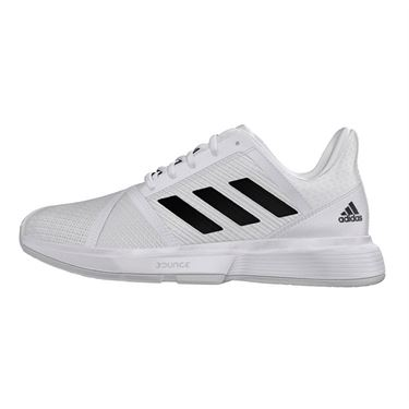 adidas Court Jam Bounce Wide Womens Tennis Shoe White/Core Black/Matte Silver EH2943