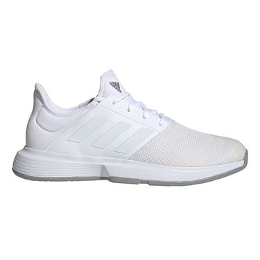 adidas Game Court Wide Mens Tennis Shoe White/Dove Grey EH2949