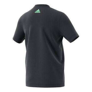 adidas Boys Tennis Logo Tee - Carbon
