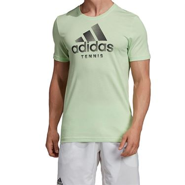 adidas Logo Tee Shirt - Glow Green