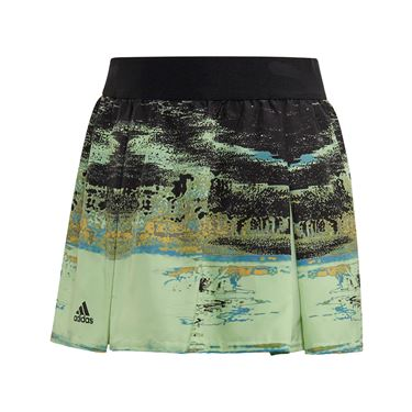 adidas Girls NY Skirt - Glow Green/Black