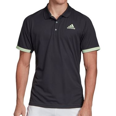 adidas NY Polo Mens Carbon/Glow Green EI8970