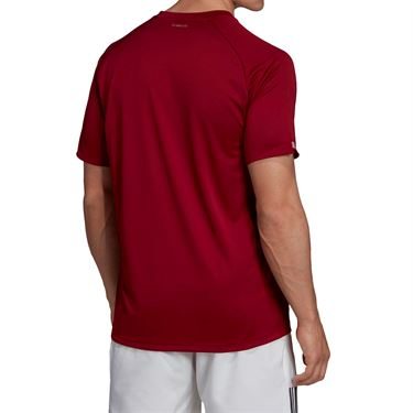 adidas Club Colorblock Crew - Collegiate Burgundy