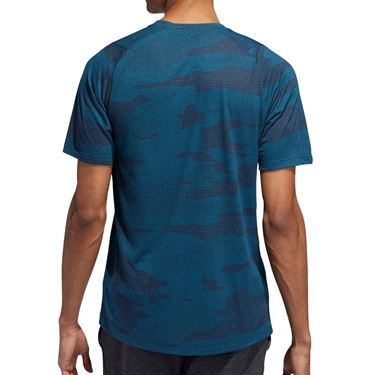 adidas Camo Burnout Tee Shirt Mens Tech Mineral EJ7227