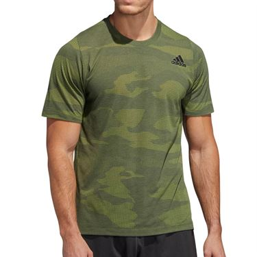 adidas Camo Burnout Tee Shirt Mens Legend Earth EJ7230