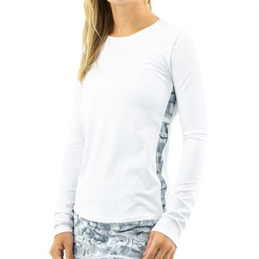 Inphorm Graphite Core Long Sleeve Top Womens White/Graphite F16010 0145